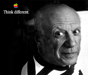 Think different:Pablo Picasso